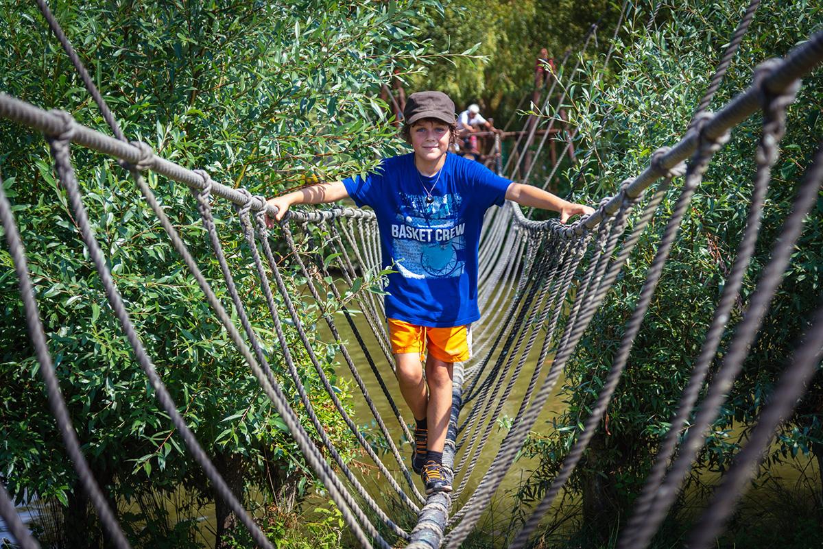Parc de loisirs Pont de singe près d'angers, maine et Loire